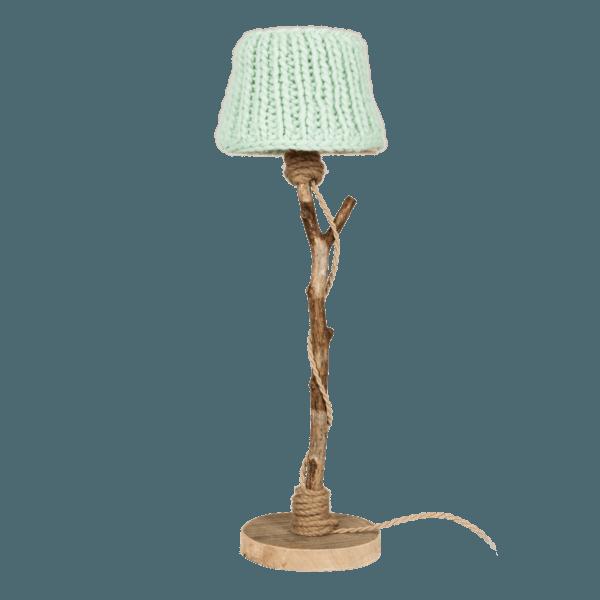 houten tafellamp mint