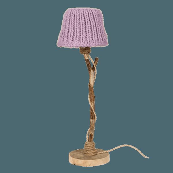 houten tafellamp lila