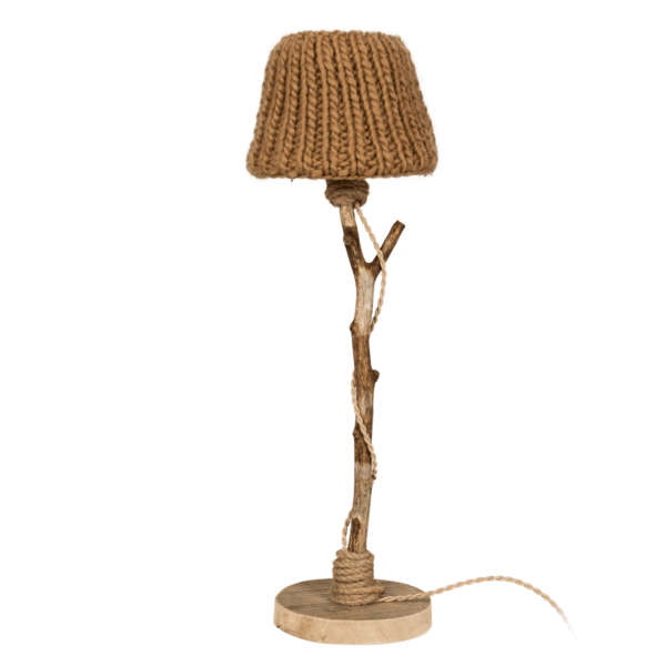 houten tafellamp camel