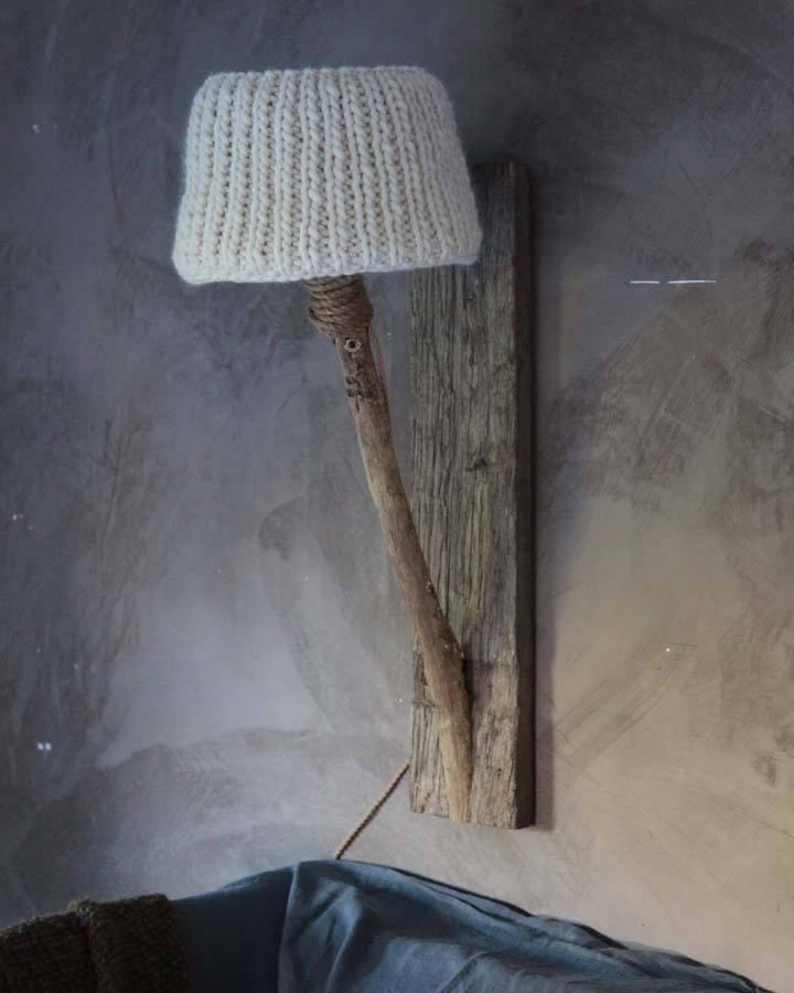 houten wandlampen landelijke stijl