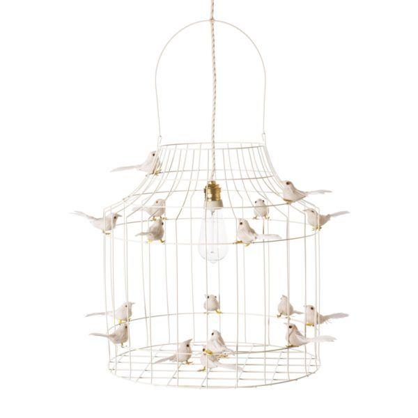 witte hanglamp witte vogels