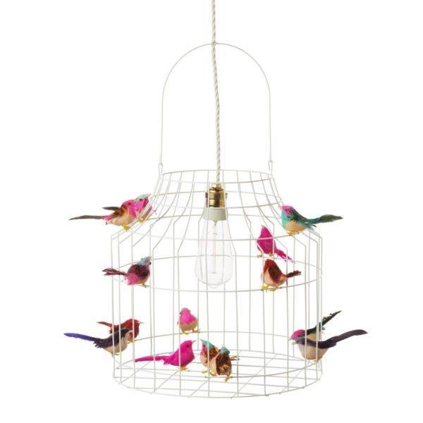 witte hanglamp vogeltjes